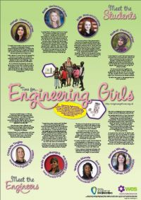Its time for engineering girls role model poster